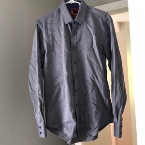 Robert Graham skull dress shirt button down small